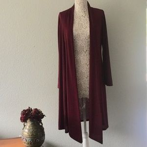 Open lightweight cardigan